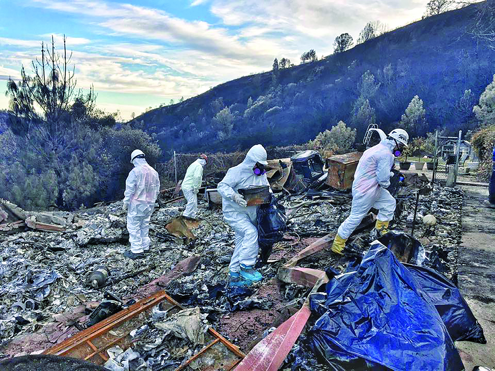 After wildfire tore through Paradise, Calif , tests found high level