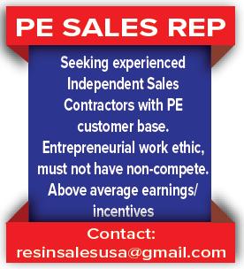 PE Sales Rep