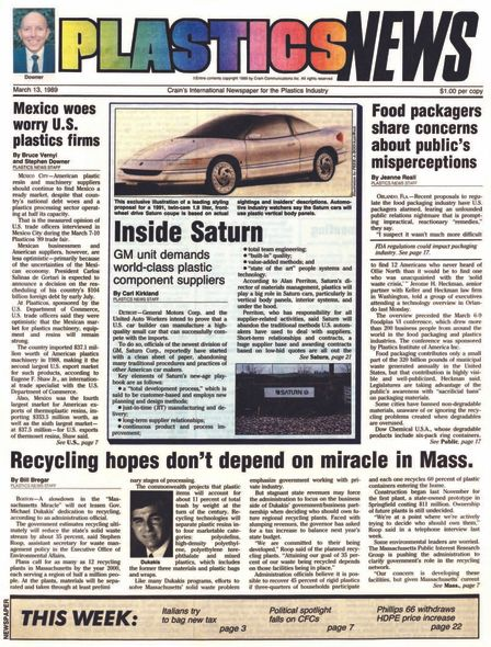 front page March 13, 1989