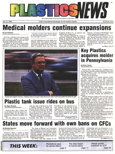 front page July 10, 1989