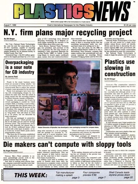 front page August 7, 1989