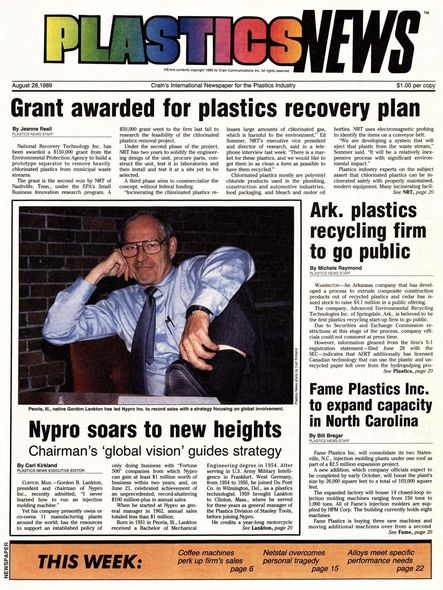 front page August 28, 1989