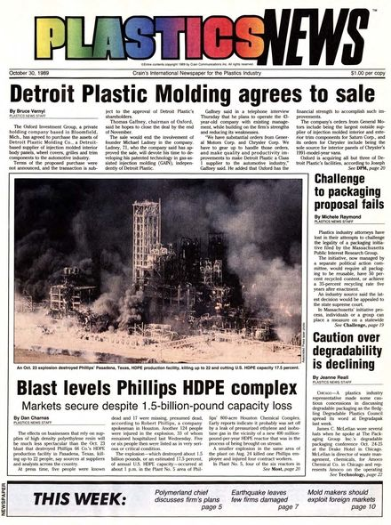 front page October 30, 1989
