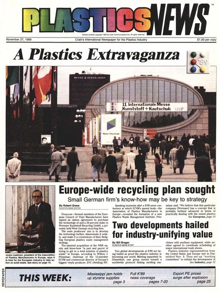 front page November 27, 1989