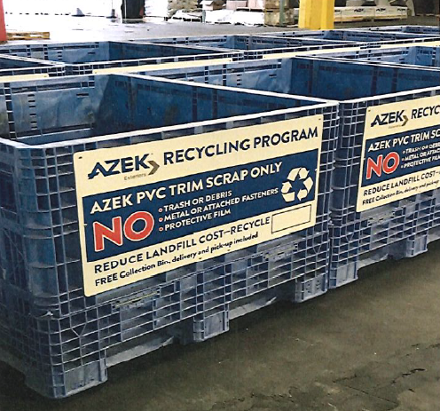 Azek decking, Sika roofing boost recycled content