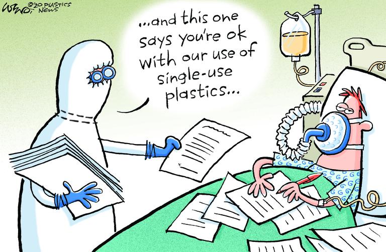 COVID-19 pandemic sparks new debate on single-use plastics