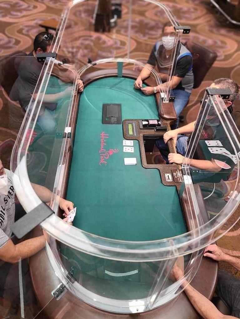 Kickstart: Texas hold 'em (with sanitized hands behind a barrier)
