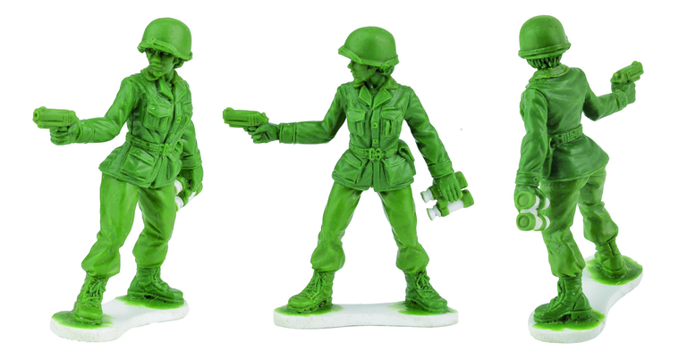 Move over green army men, here come green army women