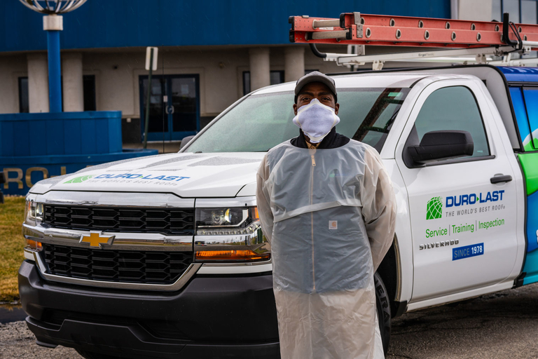 Roofing maker Duro-Last makes PPE gowns, masks