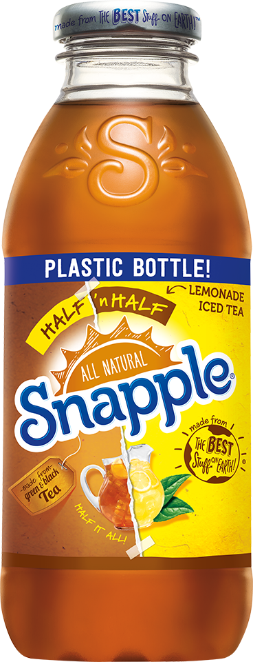 Pop! Snapple now in PET, but it still looks and sounds like the original