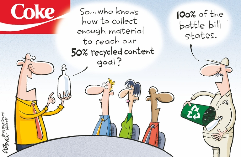 Do big plans for recycled content PET mean bottle bills?