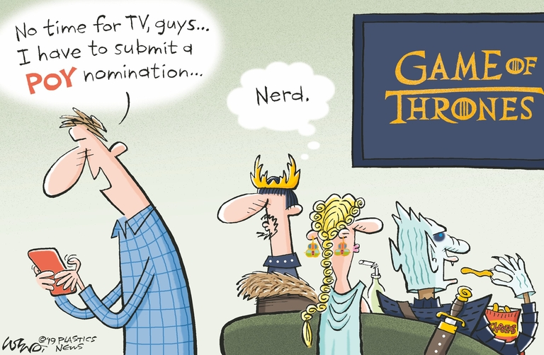 There's no Iron Throne, but POY winner gets a nice trophy
