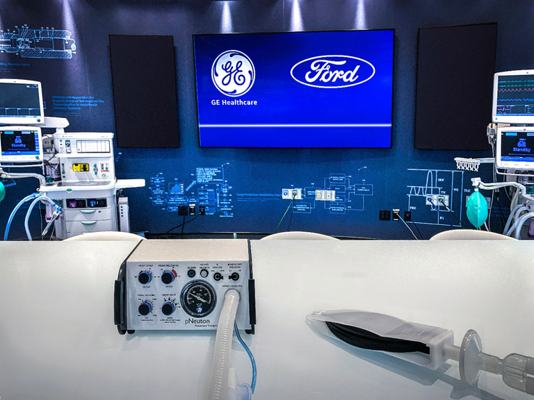 Ford, GE Healthcare to build 50,000 ventilators in next 100 days