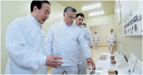 Hungarian Prime Minister Viktor Orban (2nd from left) visits Samsung SDI plant on completion in 2017.png