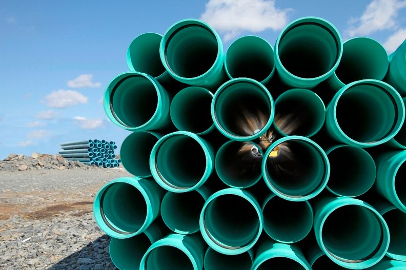 PVC pipes ready for construction