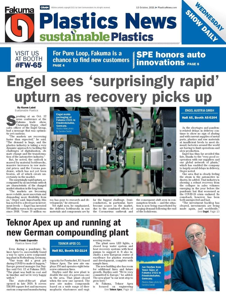 Plastics News Fakuma issue